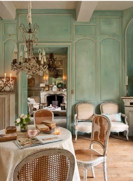 法國古董藤椅