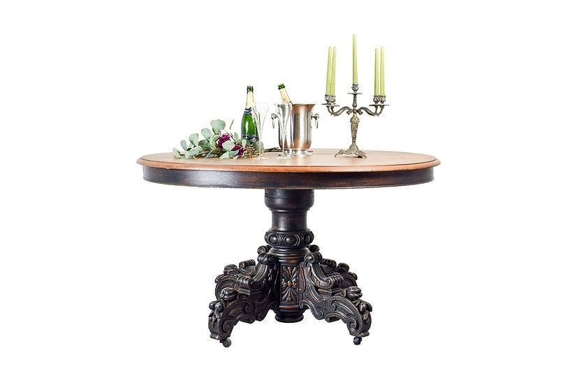 法國亨利 II 手工雕刻古董圓桌