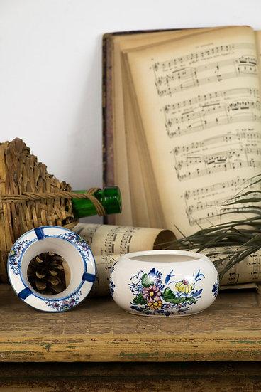 法國手繪古董煙灰缸