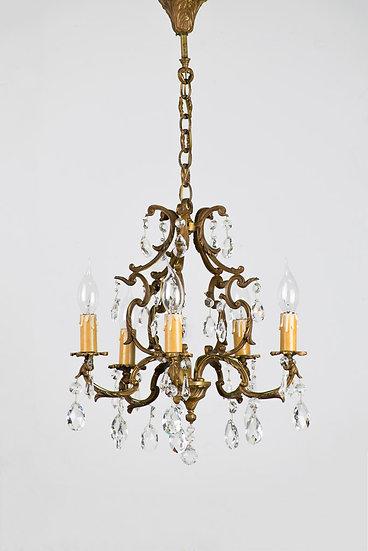 法國路易 XV 古董水晶燈