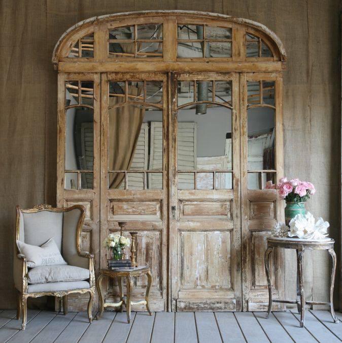 法國古董老門窗片