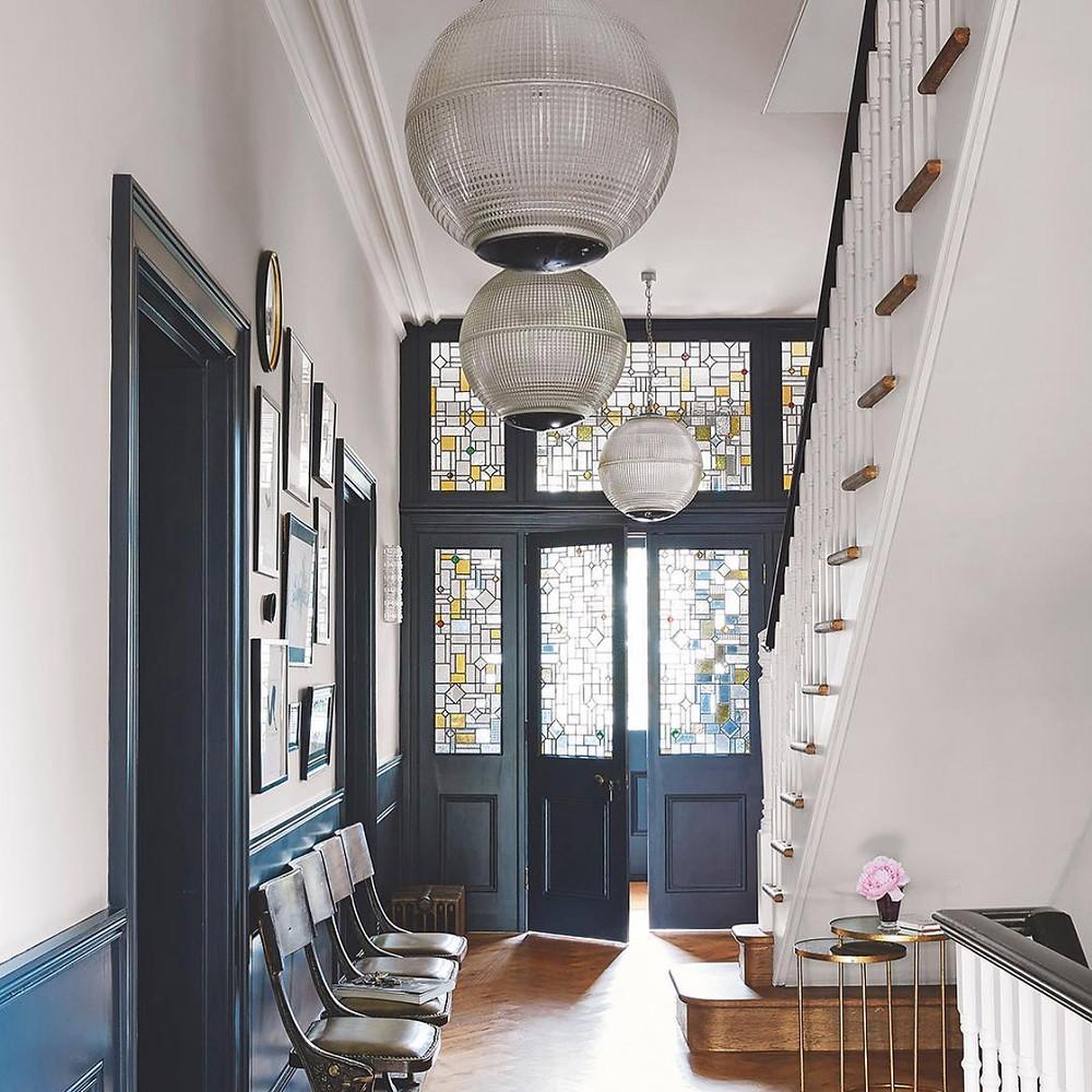 Home inspiration, beautiful hallway lighting