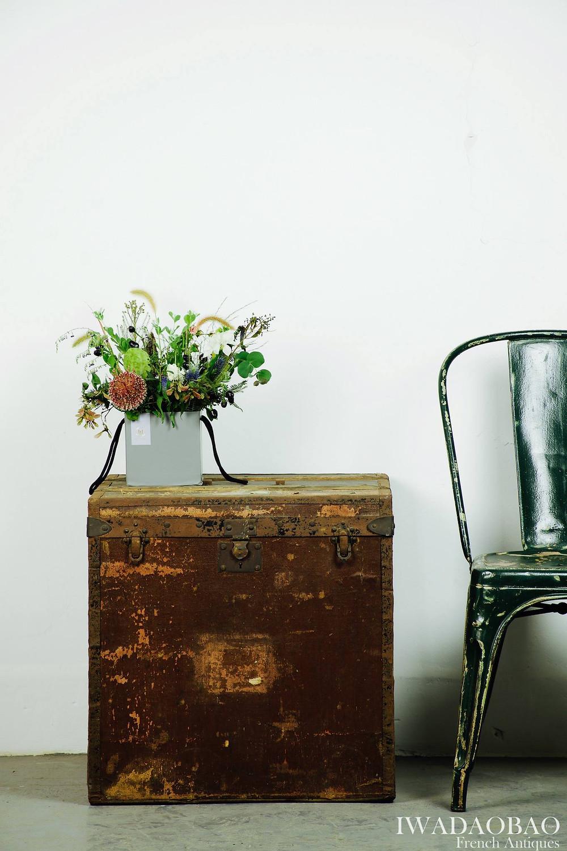 法國古董行李箱、 古董椅