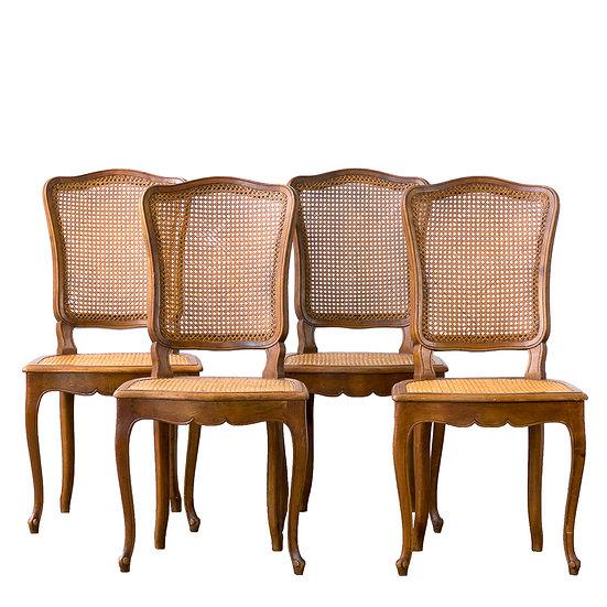 法國路易 XV 古董藤椅
