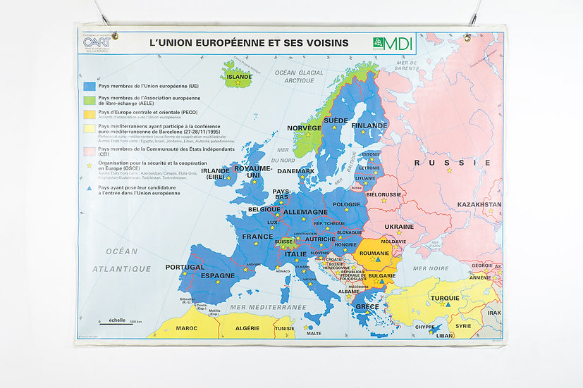 法國學校雙面地圖