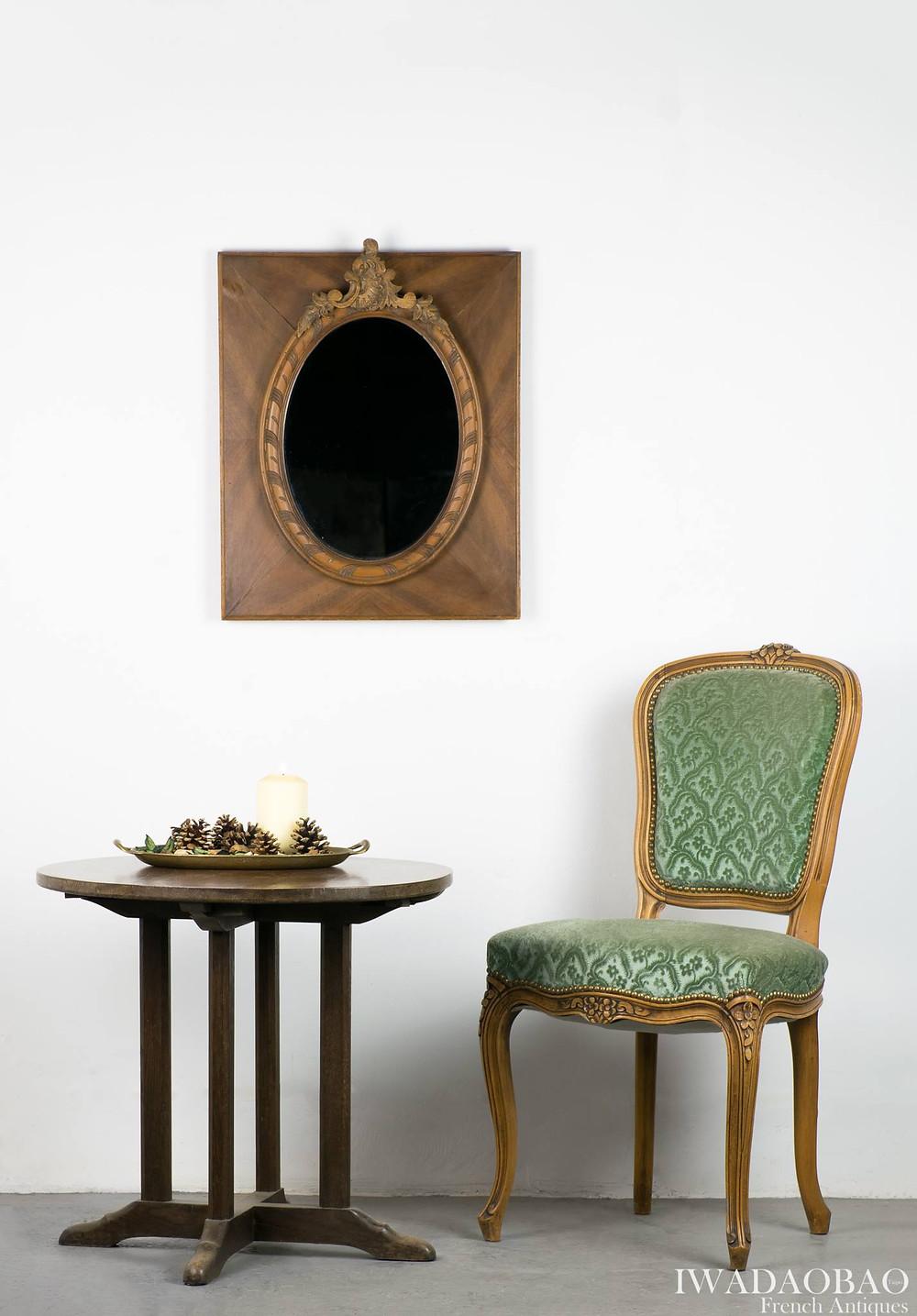 法國 Louis XV 橡木古董鏡
