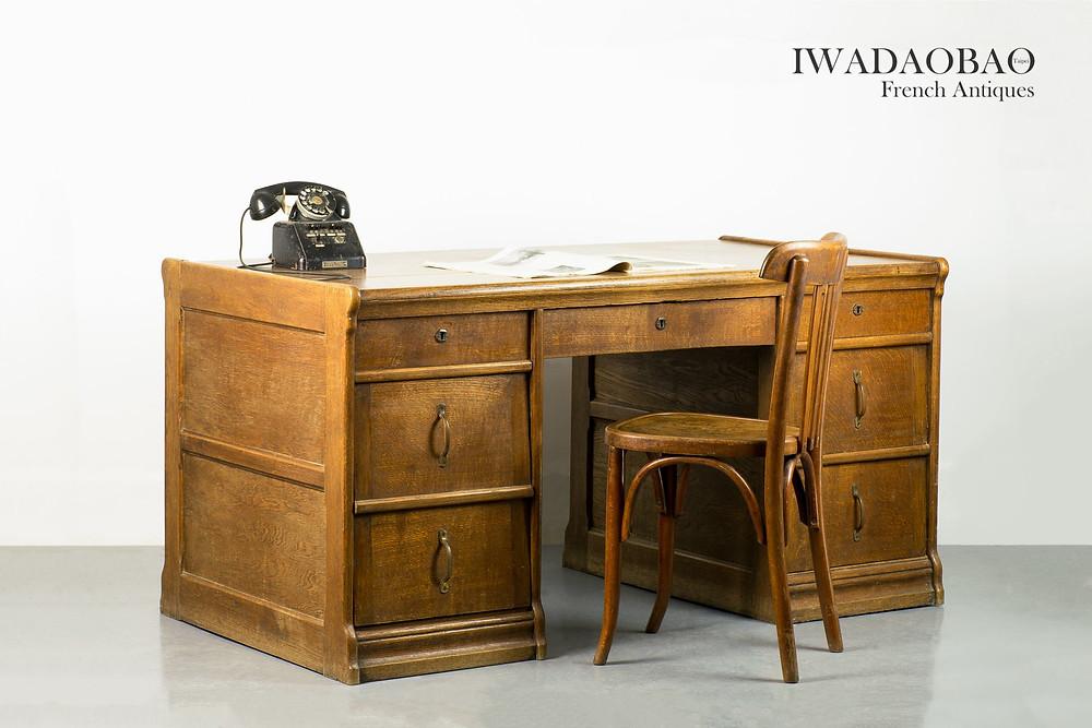 法國古董書桌、古董櫃檯桌