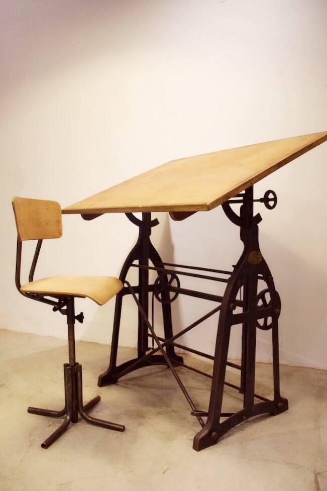 法國古董製圖桌