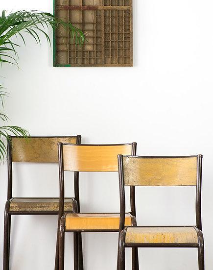 法國小學老椅