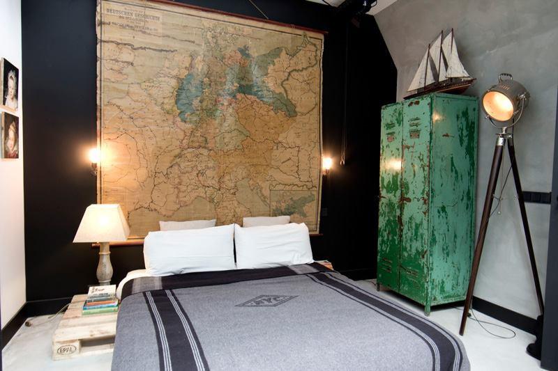法國工業老鐵櫃、老燈具