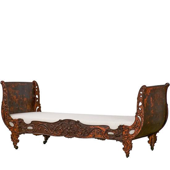 法國拿破崙 III 古董鑄鐵床