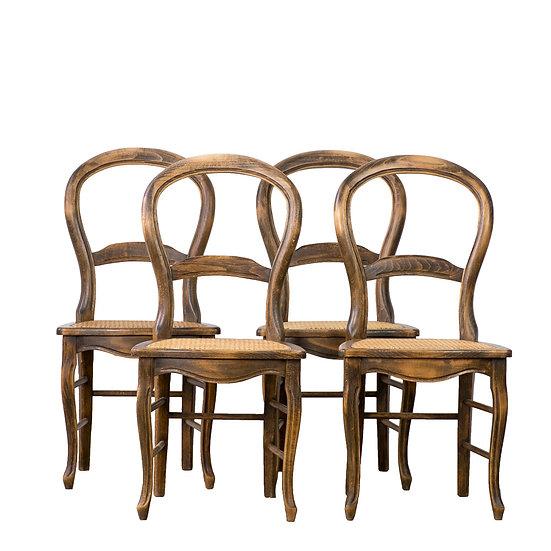 法國路易-菲利普古董藤椅