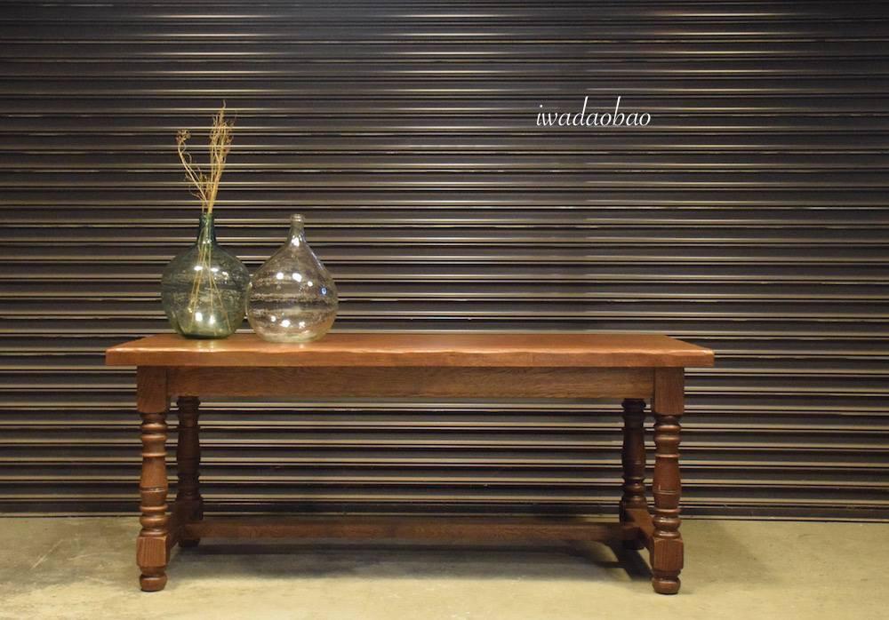法國橡木古董餐桌