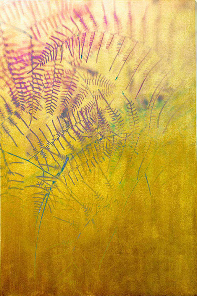 Fern Drawing in Gold