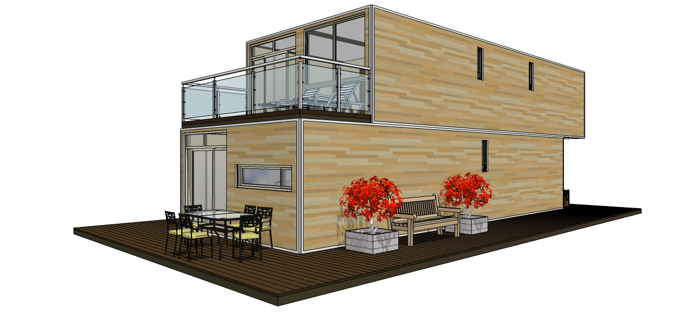 Duplex-house-with-cladding
