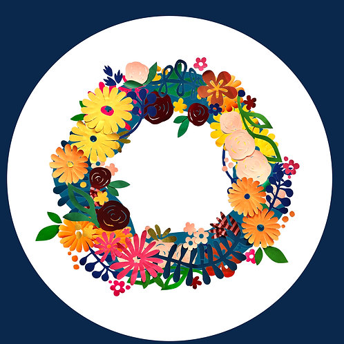 Floral wreath laptop dot [R]