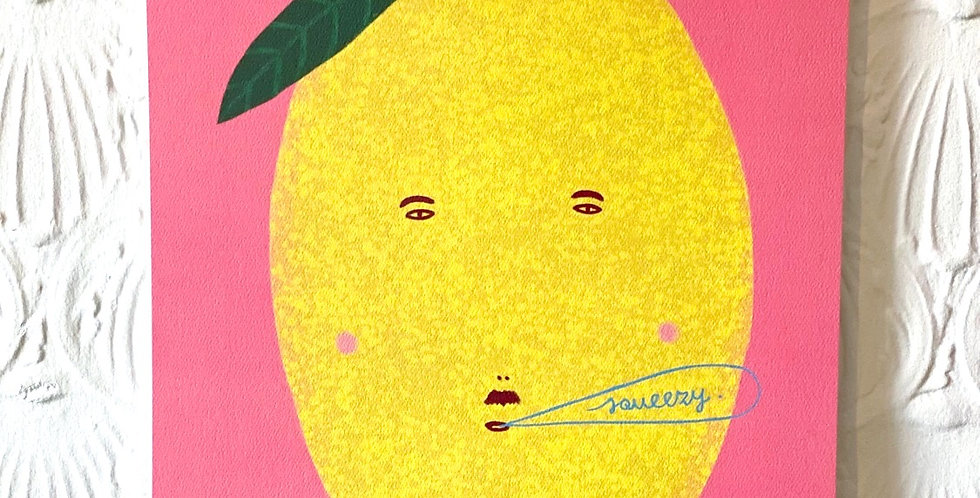 Lemon Squeezy Art print - Studio Soph