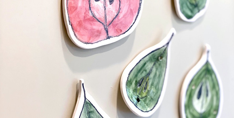 Ceramic fruit art #2 - Pears