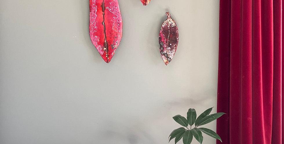 Pohutukawa Leaf canvas art - Medium