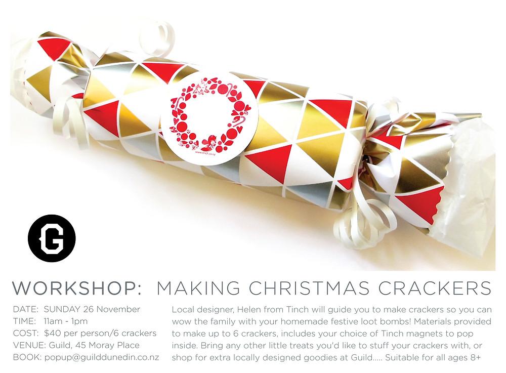 Guild workshop poster - making Christmas Crackers