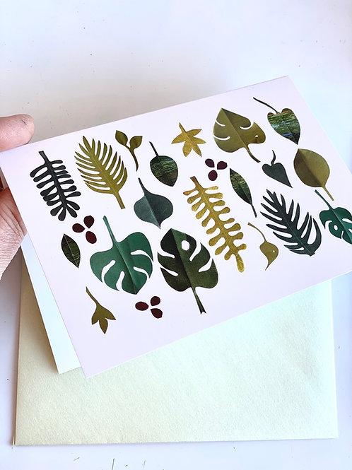 Botanical composition  - blank card