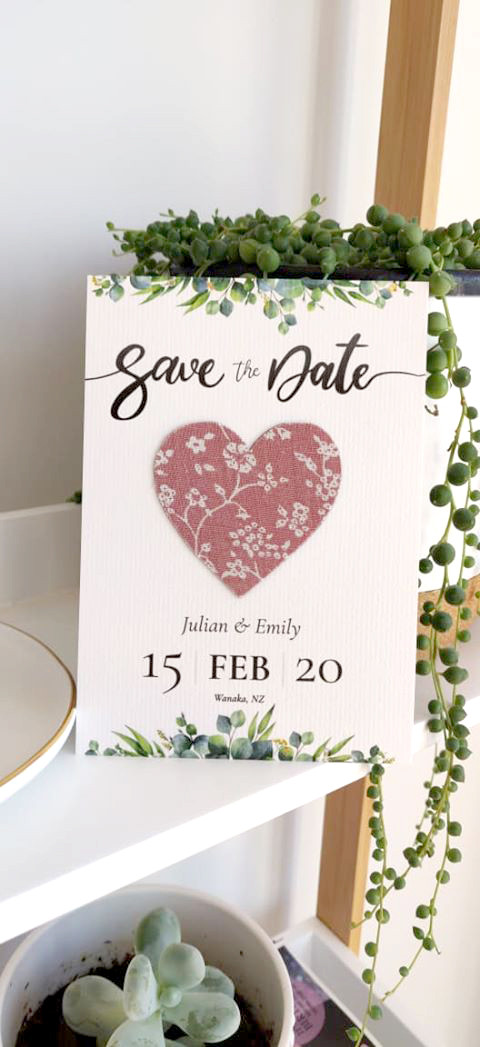 Save the date cards_heart magnets