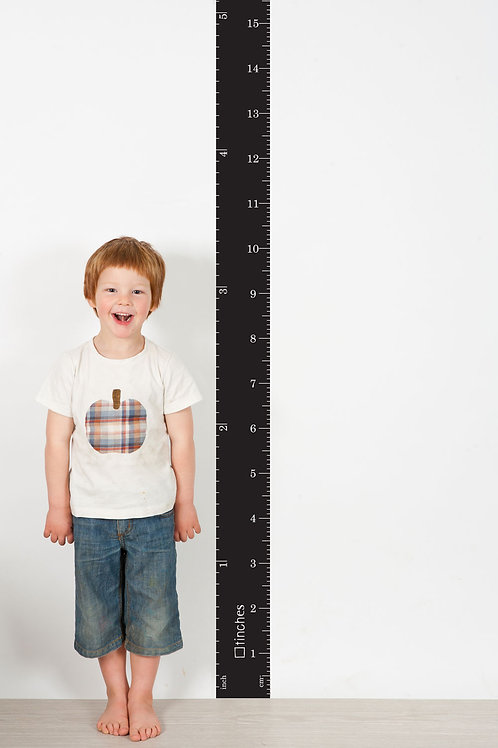 BLACK wall ruler height chart [R]
