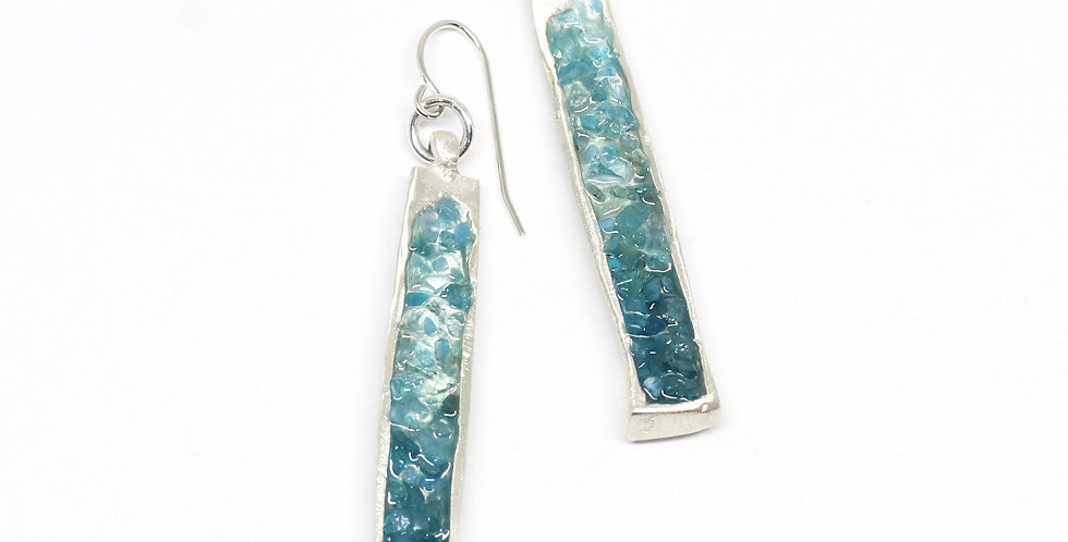 Pendant Drop earrings - Apatite