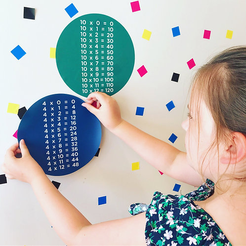 Spot on! Times tables dots [R]