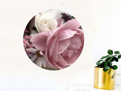 Botanical art dot - soft rose love bunch [R]