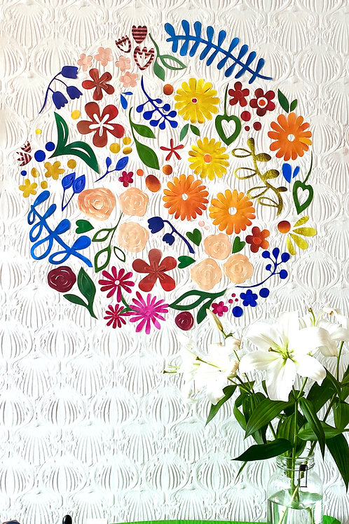 Restickable floral installation [R]