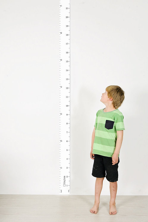 wall ruler height chart WHITE [R]