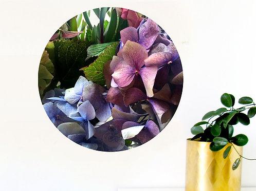 Botanical art dot - hydrangea 2 [R]