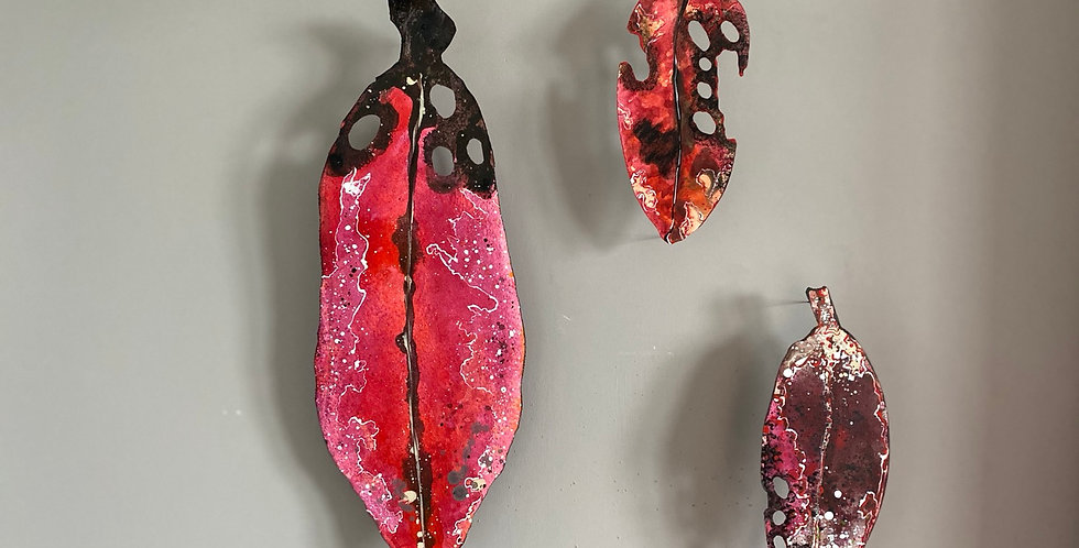 Pohutukawa Leaf canvas art - Small