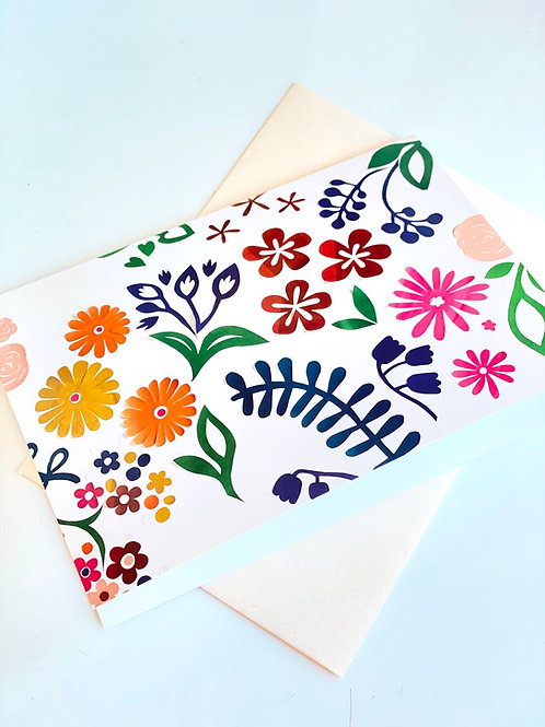 Floral composition  - blank card