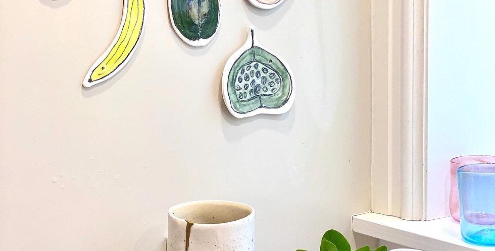 Ceramic fruit art #3 - Fruit Bag