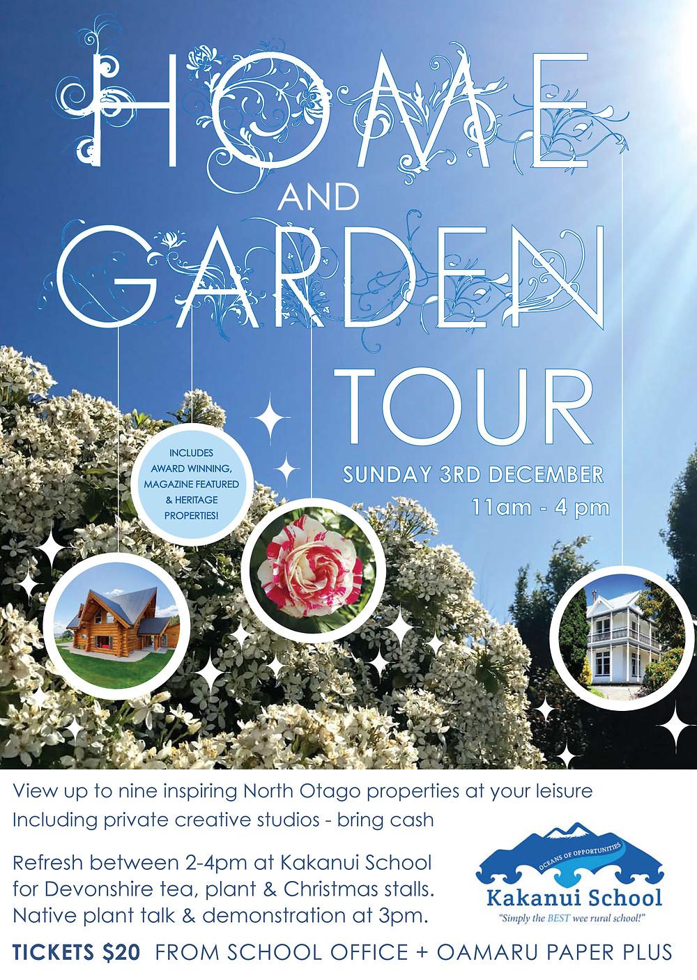 Home & Garden tour poster