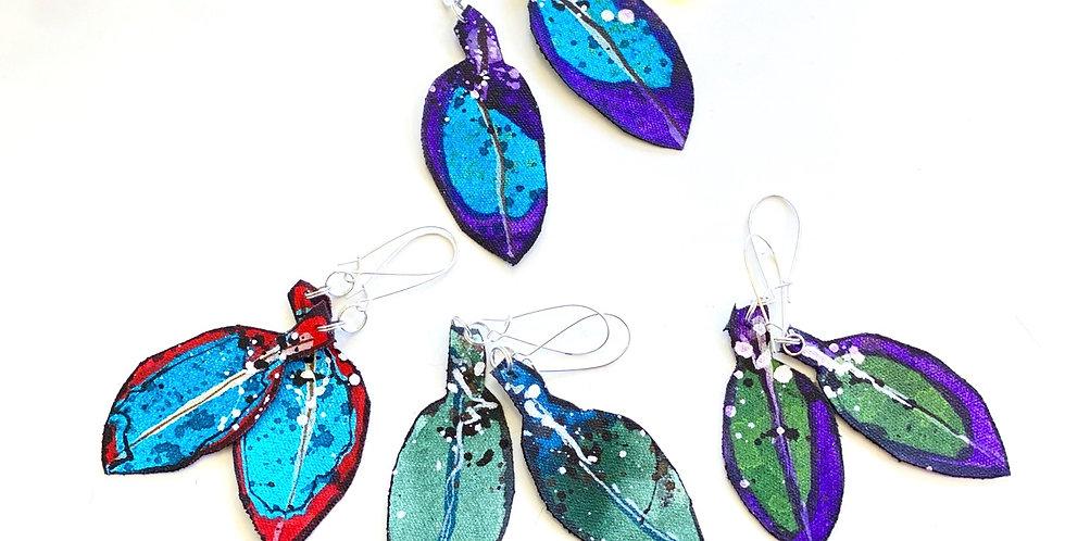 Pohutukawa Leaf Earrings