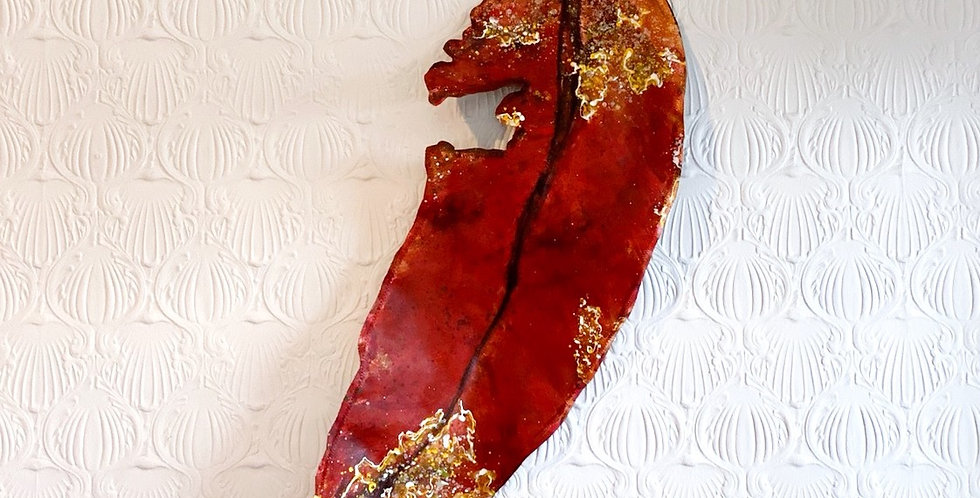 Large Gum Leaf art sculpture