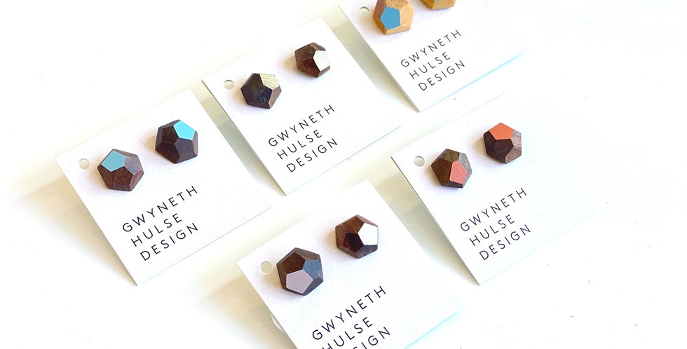Faceted native timber studs