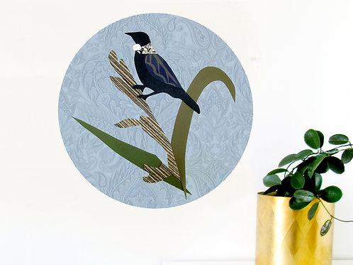 Tui in the Flax Art Dot [R]