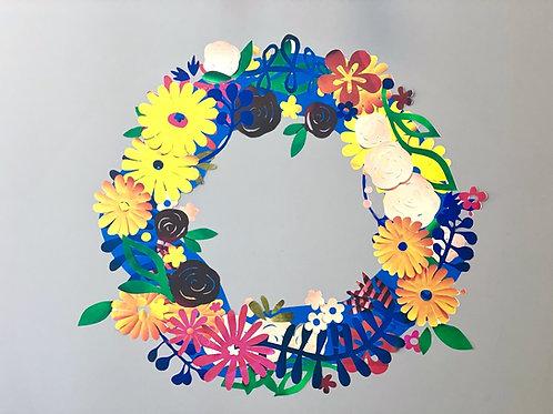 Restickable floral wreath [R]