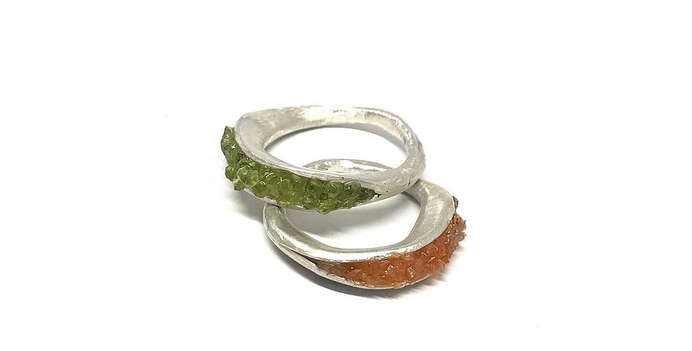 Clamshell ring - choose stone