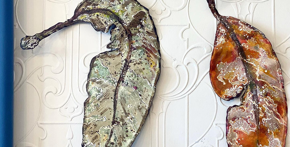 Gum Leaf art sculptures