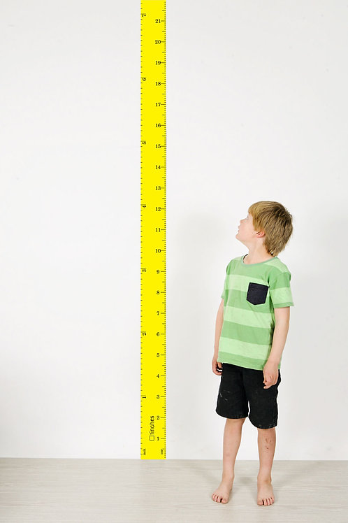 wall ruler height chart YELLOW [R]