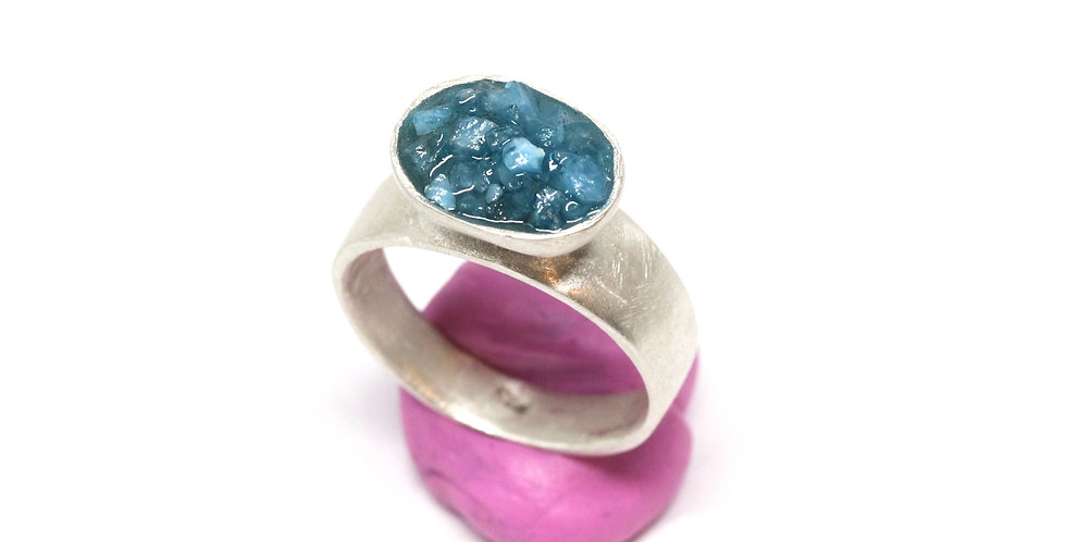 Baby Crush Cup ring - Apatite