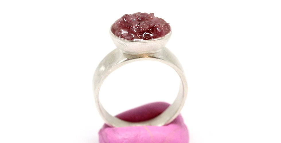 Baby Crush Cup ring - Pink Tourmaline