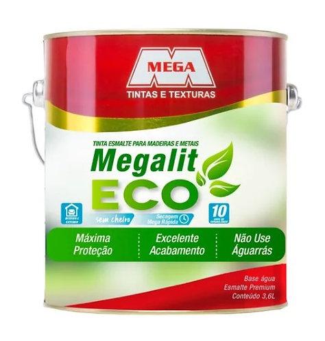 MEGALIT ESMALTE  ECO BRILHANTE BRANCO 900ML - MEGA
