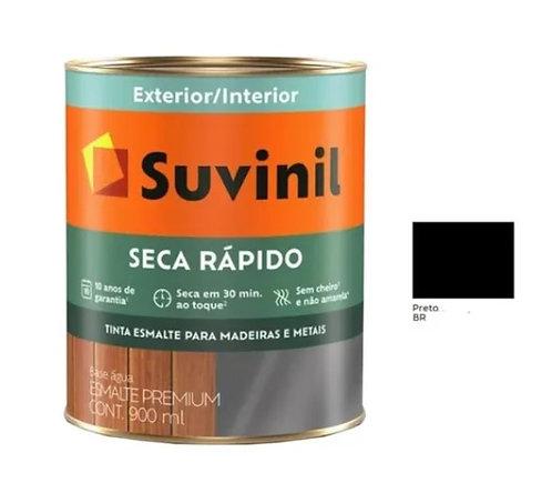 ESMALTE  SECA RAPIDO  BRILHANTE  PRETO 900ML - SUVINIL