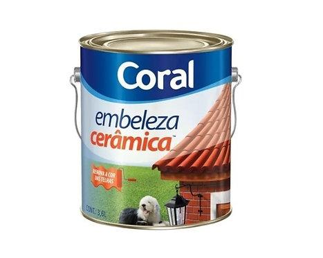 TINTA EMBELEZA CERAMICA   3,6L - CORAL